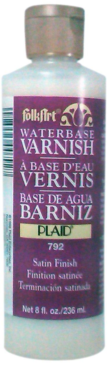 FolkArt Waterbase Varnish (8 Ounce), 792 Satin