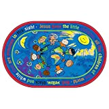 Flagship Carpets All The Little Children Children Education Learning Floor Playmat Nylon Oval 5'10'' x 8' 4''