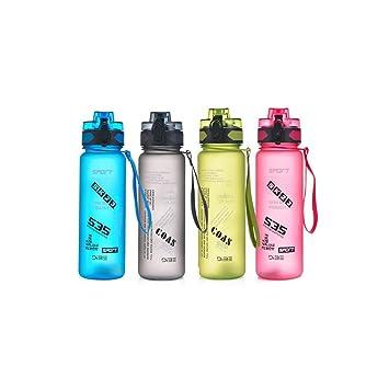 Chaoqunuk botella de agua deportiva de 1 litro – Respetuoso con el medio ambiente y sin