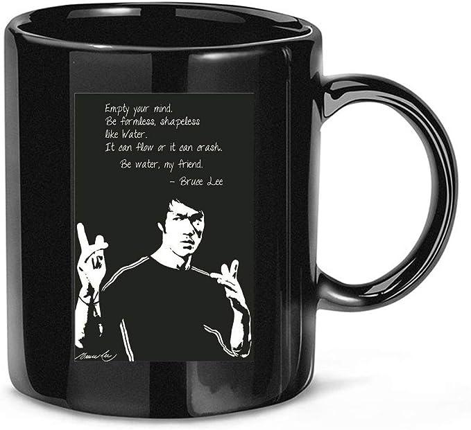 Amazon.com: Lykusharako #Bruce #Lee Motivational Quotes Silk Funny Coffee Mug for Women and Men Tea Cups