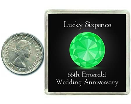 Lucky Sixpence Coin For An Emerald Th Wedding Anniversary Traditional Thoughtful Keepsake Gift Idea
