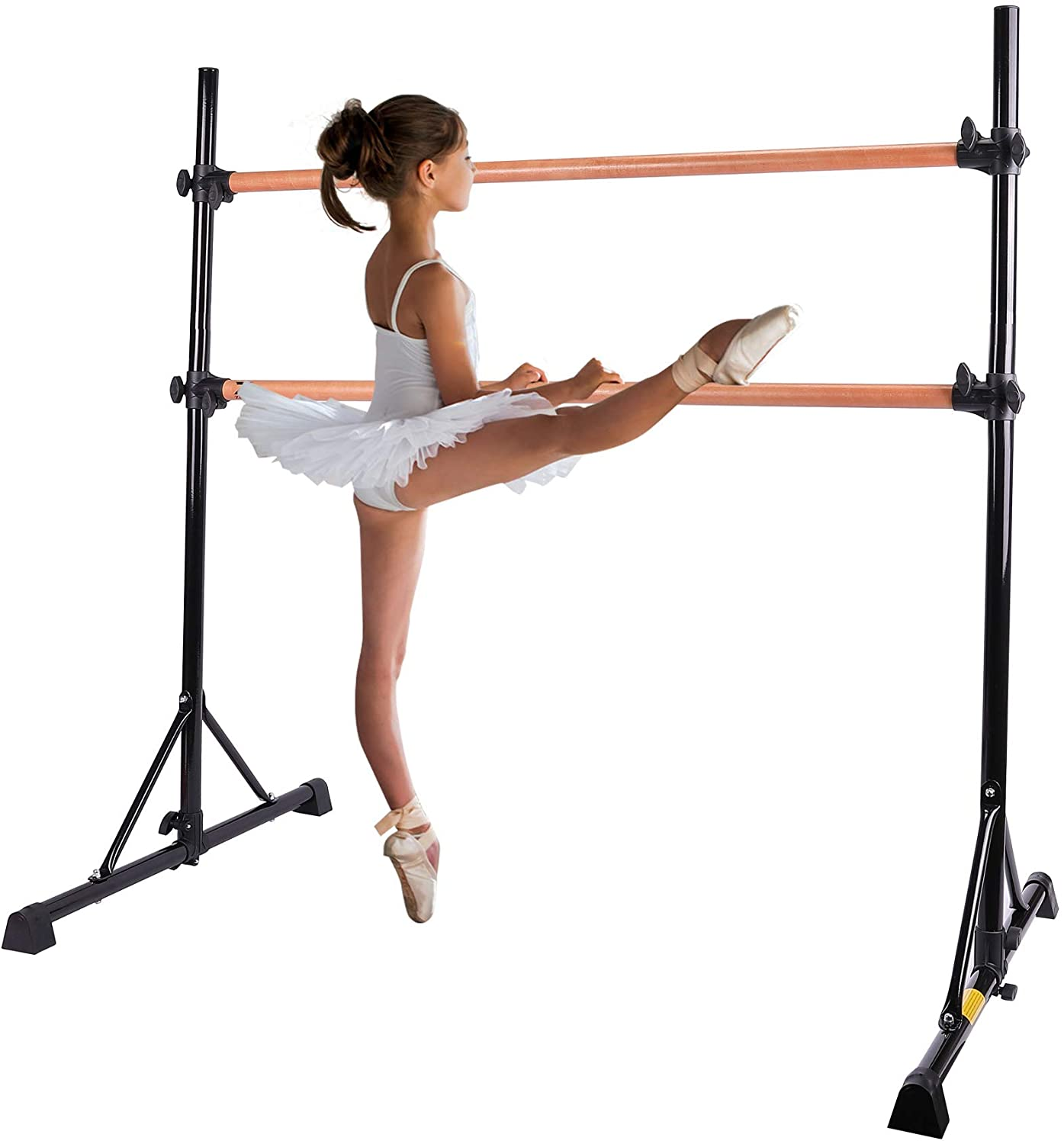 4FT Ballet Barre Bar Freestanding Single Dance Bar Studio Stretch Training Home