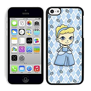 Funda carcasa para Apple iPhone 5C diseño princesa con zapatos de cristal borde negro