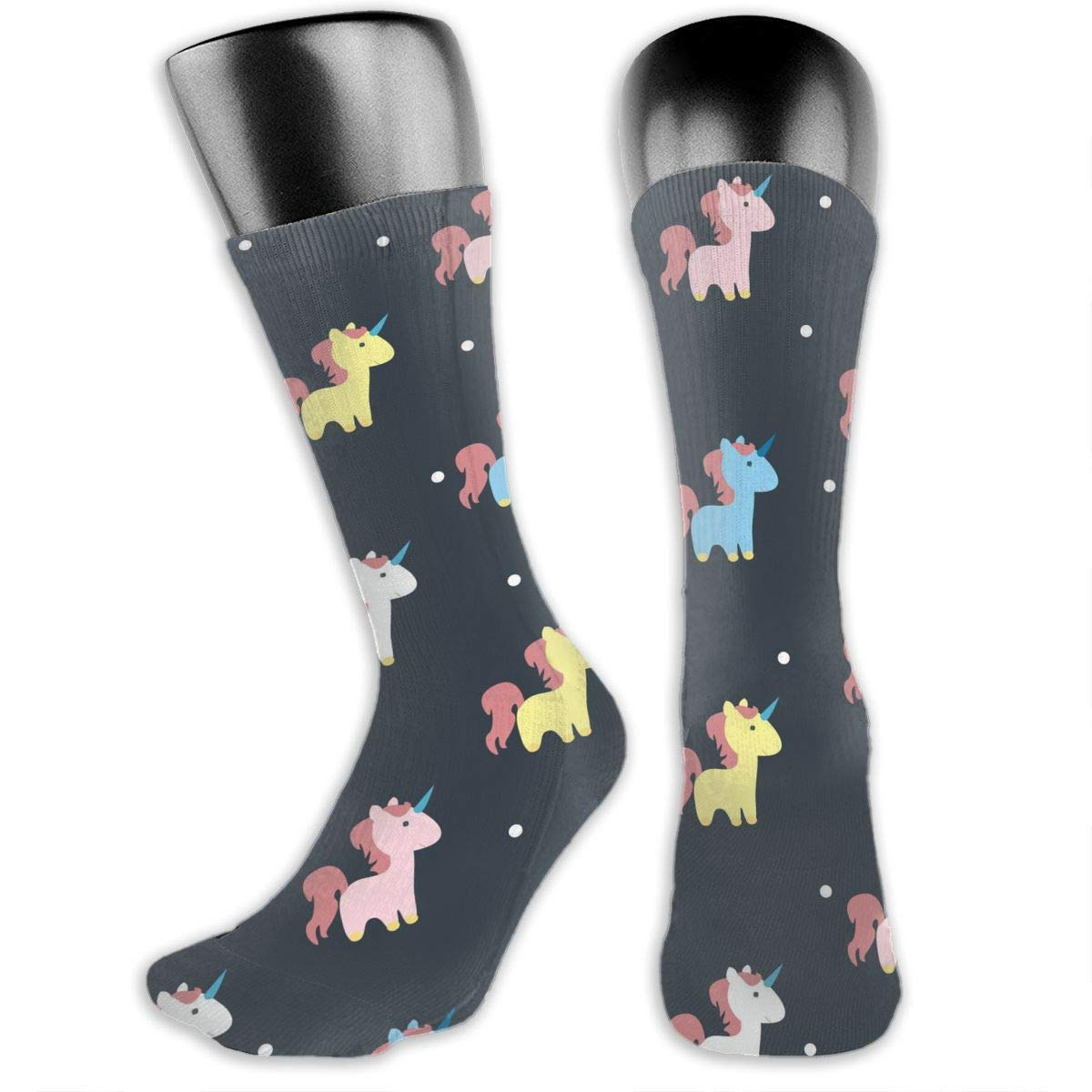 OLGCZM Unicorn Dot Pattern Men Womens Thin High Ankle Casual Socks Fit Outdoor Hiking Trail