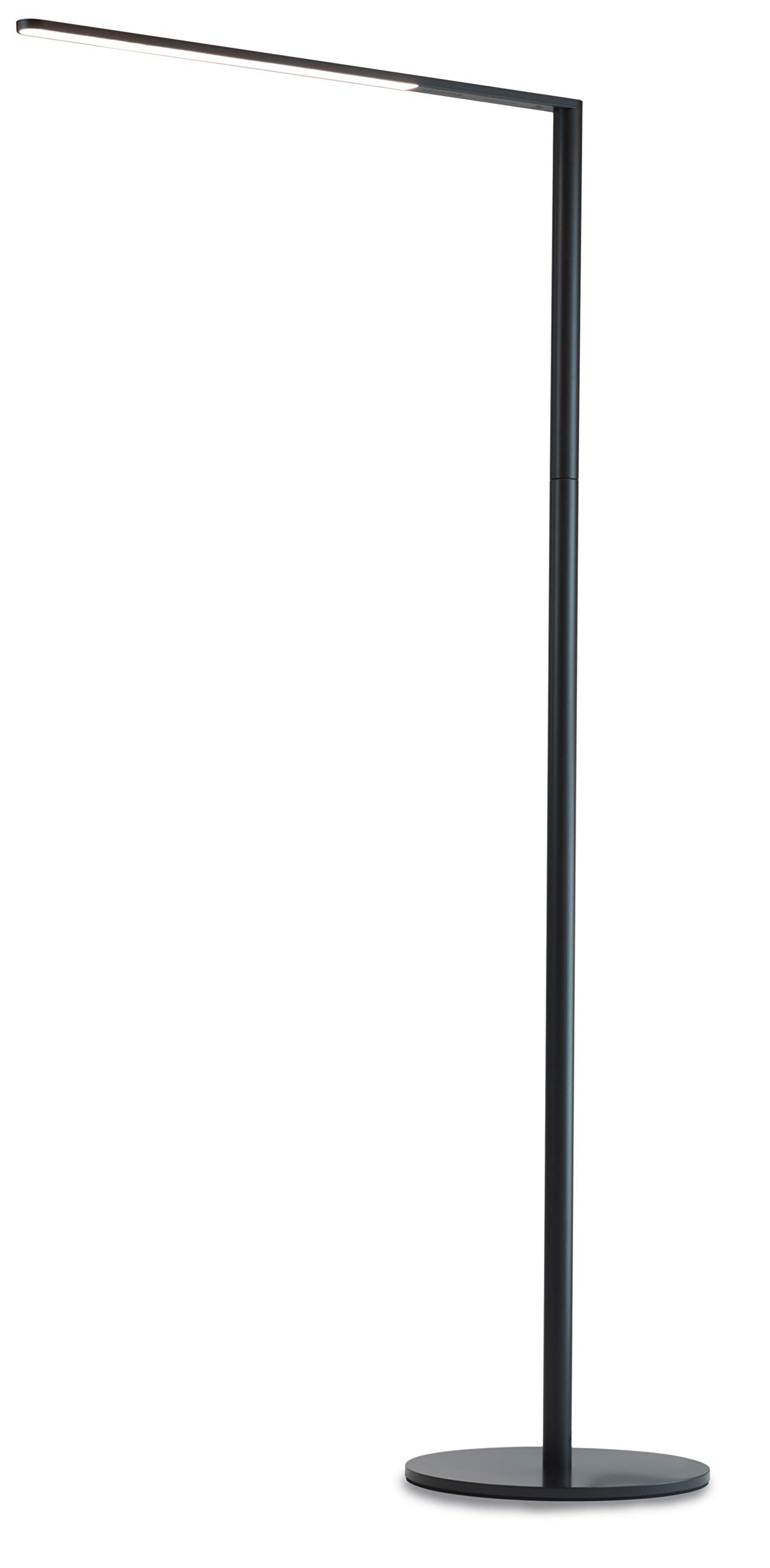 Koncept Lady 7 Floor Lamp with USB Charging Port in Metallic Black, L7-MBK-FLR by KONCEPT