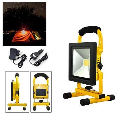 Hengda Foco LED Recargable proyector Lámpara Exterior ...