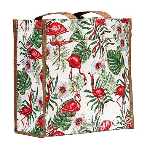 arazzo tessuto donna Shopping Signare alla Borsa fenicottero moda stile in gXx6qtddwB