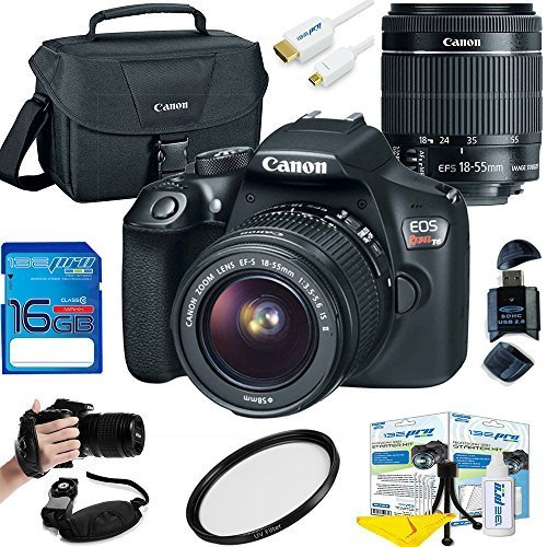 Canon EOS Rebel T6 DSLR Camera w/ EF-S 18-55mm f/3.5-5.6 IS II Lens – Deal-Expo Essential Accessories Bundle Review