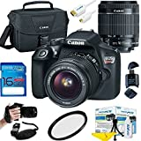 Canon EOS Rebel T6 DSLR Camera w/ EF-S 18-55mm f/3.5-5.6 IS II Lens - Deal-Expo Essential Accessories Bundle