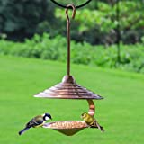 DYAO Outdoor Hanging Wild Bird Feeder,Metal Hopper Bird Feeder for Garden Yard Outside Decoration.Copper Surface Treatment.