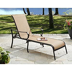 this set of 2 patio lounge chairs made of stain resistant and quick drying fabric are perfect to lay out in the sun by the pool constructed of sturdy steel