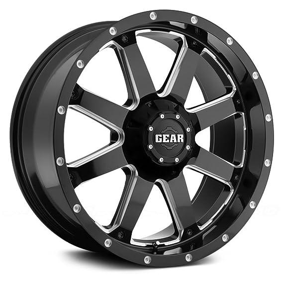 amazon gear alloy 726mb big block wheel with milled finish SRX Wheels amazon gear alloy 726mb big block wheel with milled finish 20x9 8x6 5 0mm offset gear alloy automotive