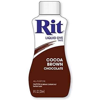 Amazon Rit Dye Liquid Fabric Dye 8 Ounce Cocoa Brown