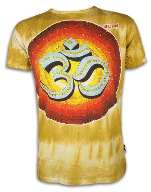 Sure Clothing Camiseta Hombre Amor Retro Om Talla ML XL Batik Zen Budismo Yoga Boho Hinduismo Namaste Buda
