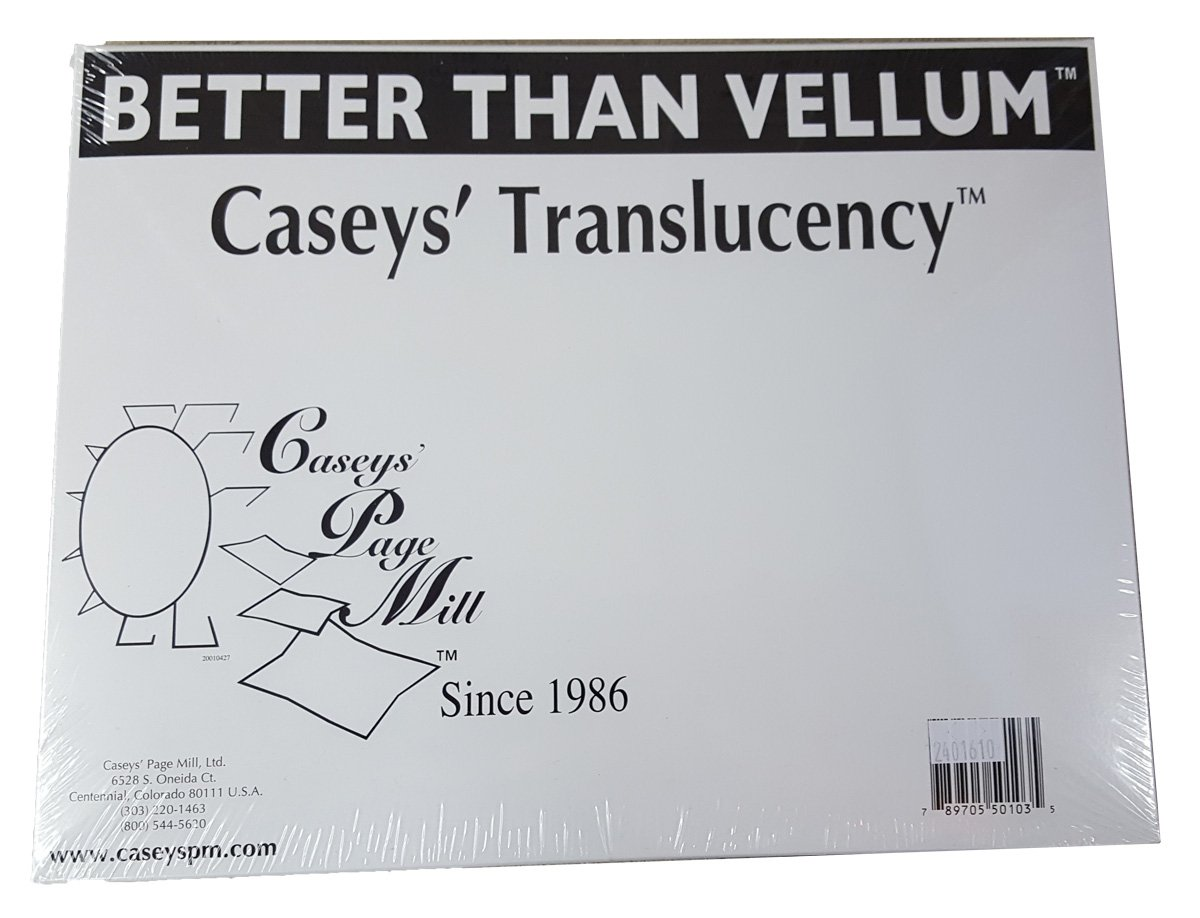Caseys Translucency Vellum Like Paper For Laser Printers To Make Screen Printing Positives 8-1//2 x 11-250 DT11