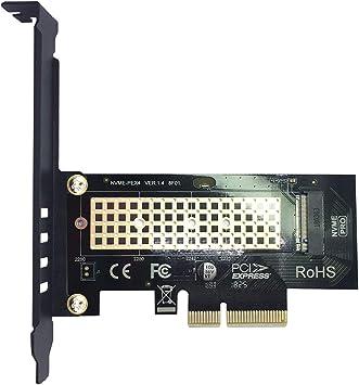 glotrends Adaptador PCIE a M.2 para PC de Escritorio, PCIE GEN3 ...