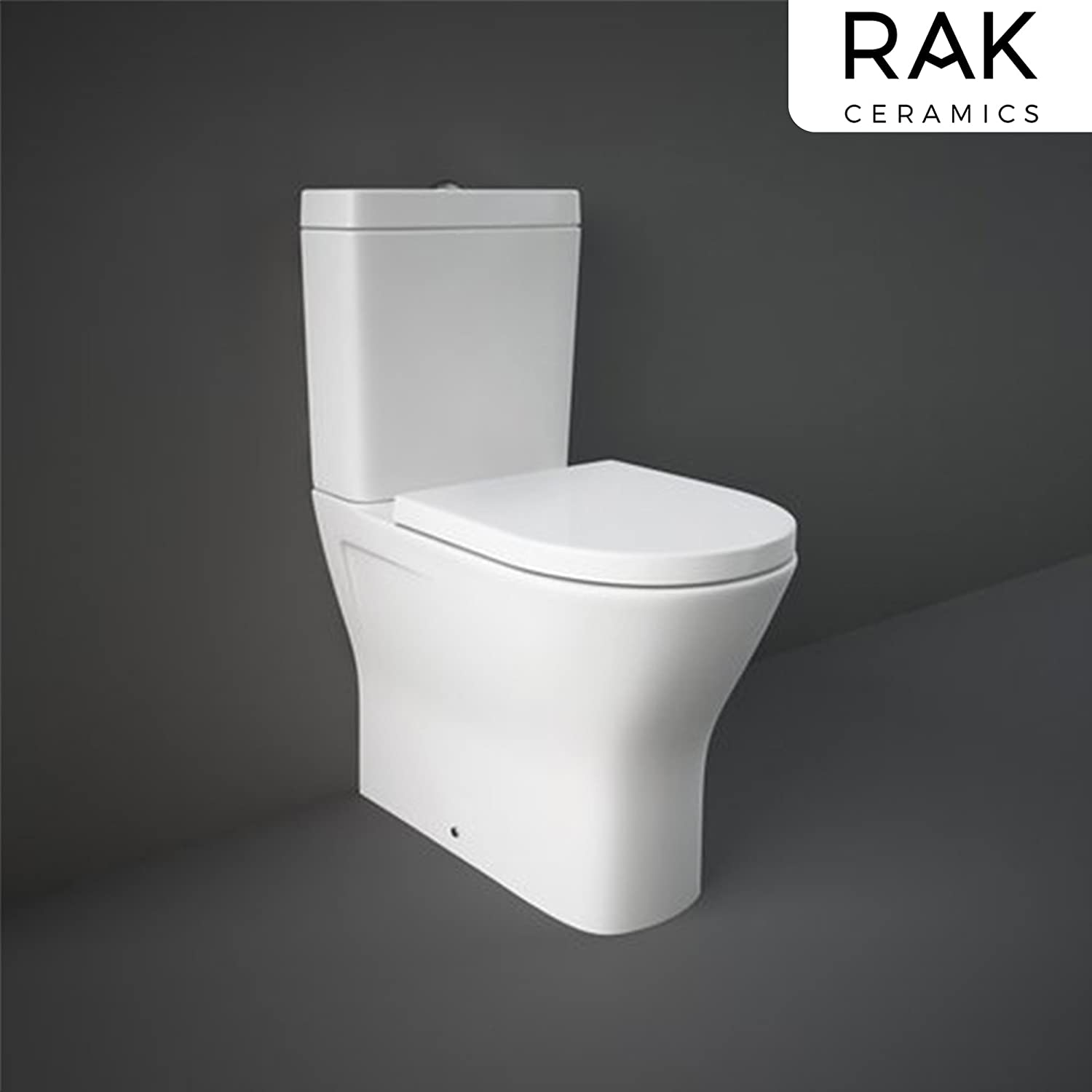 Sorrento Bathrooms Rimless Clean Flush Close Coupled Back to Wall White Ceramic Toilet Antibacterial Slim Soft Closing Seat