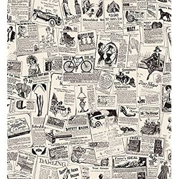 Vintage American Newspaper from the 1900/'s on Sure Strip Wallpaper KW7620