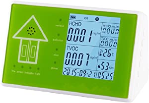 Umootek Indoor/Outdoor Air Quality Monitor,Testing TVOC Formaldehyde PM2.5/PM10 Temperature Humidity,Professional Multifunctional 24-Hour Real-time Monitor with Rechargeable Battery