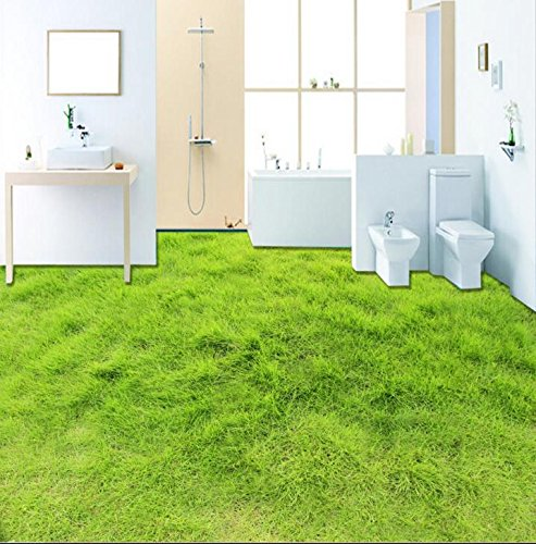 BZDHWWH Hd 3D Stereoscopic Photo Wallpapers Lawn 3D Floor Tiles for Living Room Waterproof Wallpaper for Bathroom 3D Flooring,60Cm X 90Cm