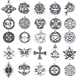 Arts & Crafts : Celtic Irish Knot Charms Pack of 25pcs (Antique Silver)