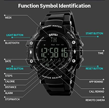 Amazon.com: LtrottedJ Smart Watch Sport Waterproof Bluetooth ...