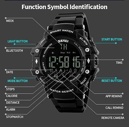 Amazon.com: LtrottedJ Smart Watch Sport Waterproof Bluetooth ...