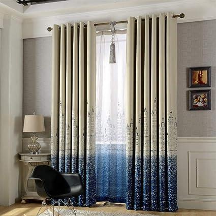 Amazon.com: Tekijun Castle Print Blackout Curtains Bedroom ...