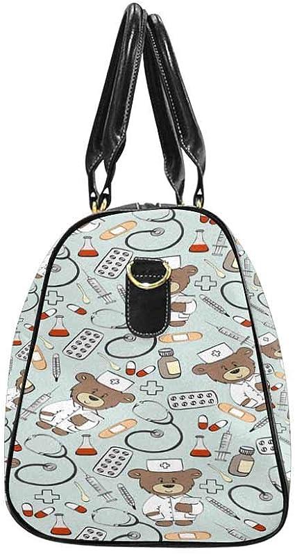 InterestPrint Unisex Duffel Bag Carry-on Bag Overnight Bag Weekender Bag Cute Bears