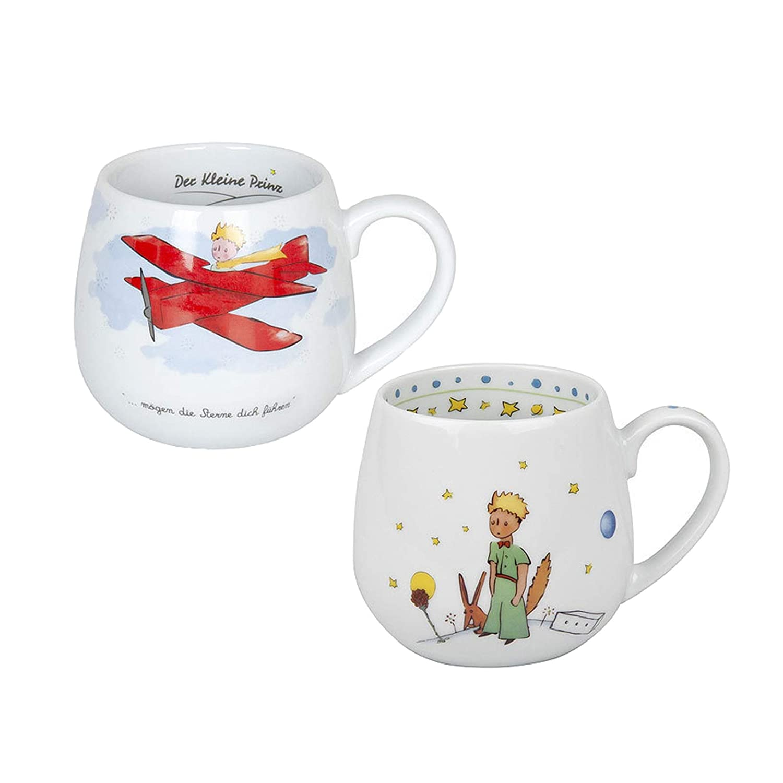 K/önitz Porzellan Kaffee Becher Kaffee Tasse Tee Tasse Kuschelbecher Set Der Kleine Prinz 2 teilig