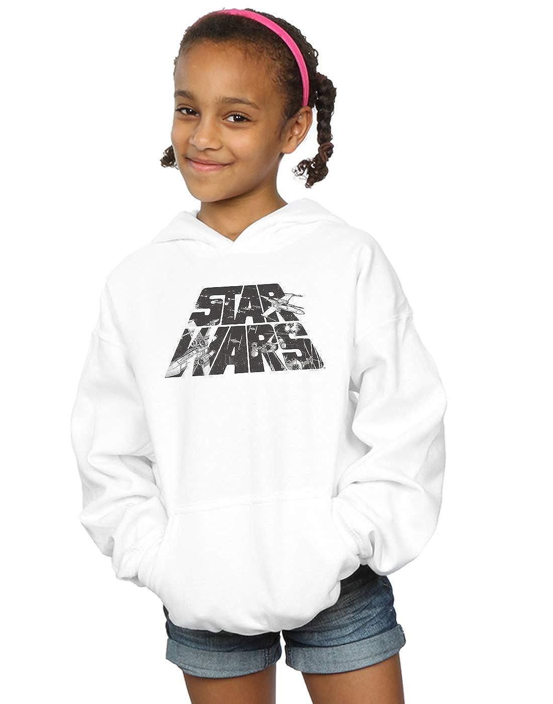 Star Wars Girls Logo Space Sketch Hoodie