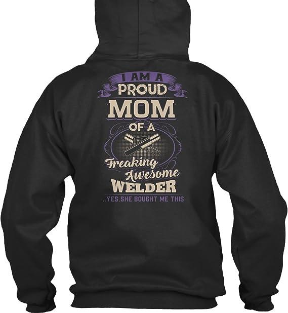 Sudadera con Capucha Teespring para Hombre - L - Proud Welders Mom Shirt