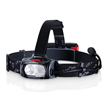 in.tec LED Kopflampe 80 Lumen Stirnlampe Scheinwerfer Headlight Batterie
