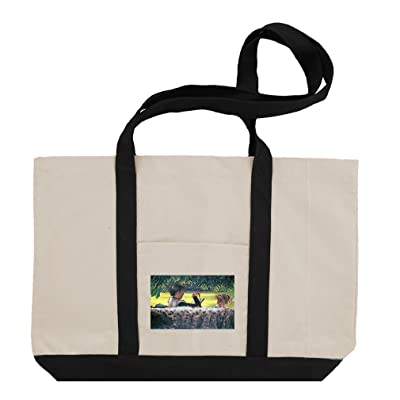 A Story Read (Tissot) Cotton Canvas Boat Tote Bag Tote