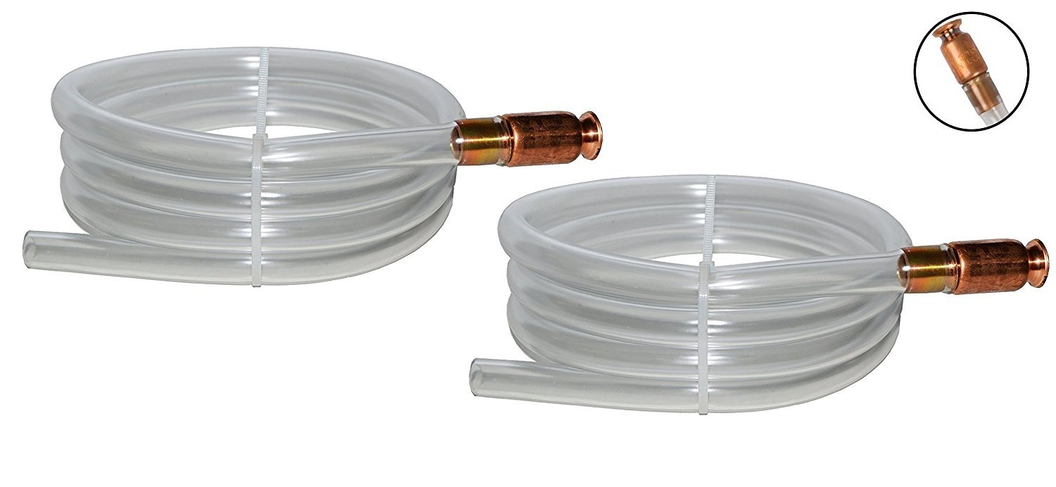 Gas Siphon - The Original Safety Siphon - 6' High Grade Hose 1/2'' Valve - 2-Pack