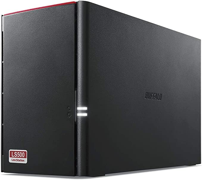 Buffalo LinkStation 520 LS520DE-EU NAS a 2 bay (1.0GHz dual-core, DDR3 256 MB) negro