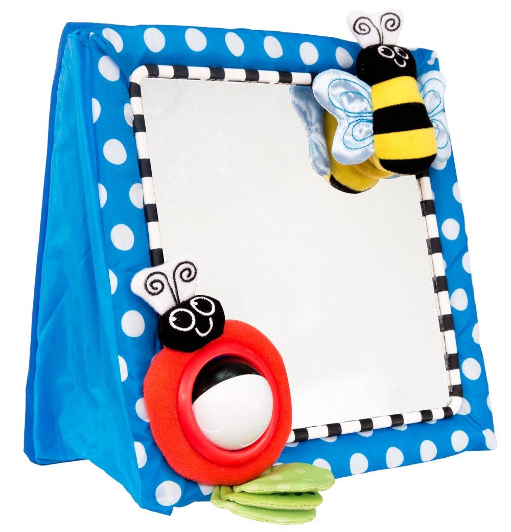 Baby Floor Mirror Bee Ladybug Easel Back Soft Spinning Ball Toy Boys ...