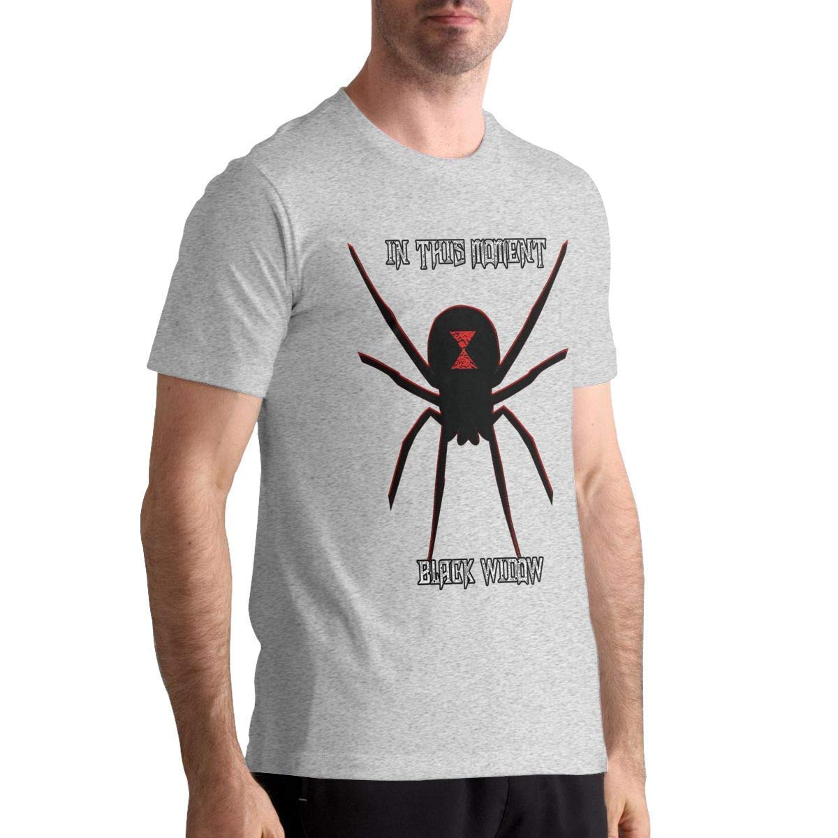 in This Moment-Black Widow Men Basic Short Sleeve Music Tee White