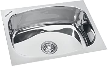 Sincore Kitchen Sink Splash X Large 24 In X 18 In X 10 In Glossy Finish Single Bowl 304 Grade Stainless Steel Amazon In Home Improvement