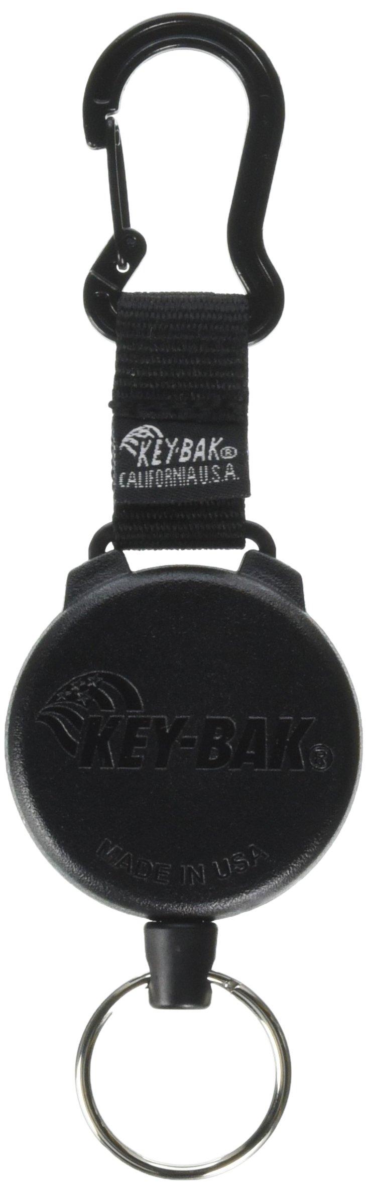 KEY-BAK 0488-803 48'' Black Carabiner Key Reel Cord