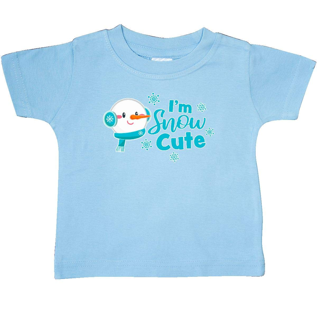 inktastic Im Snow Cute with Snowman and Snowflakes Baby T-Shirt