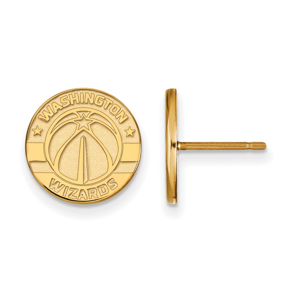 NBA Washington Wizards Post Earrings in 14K Yellow Gold by LogoArt