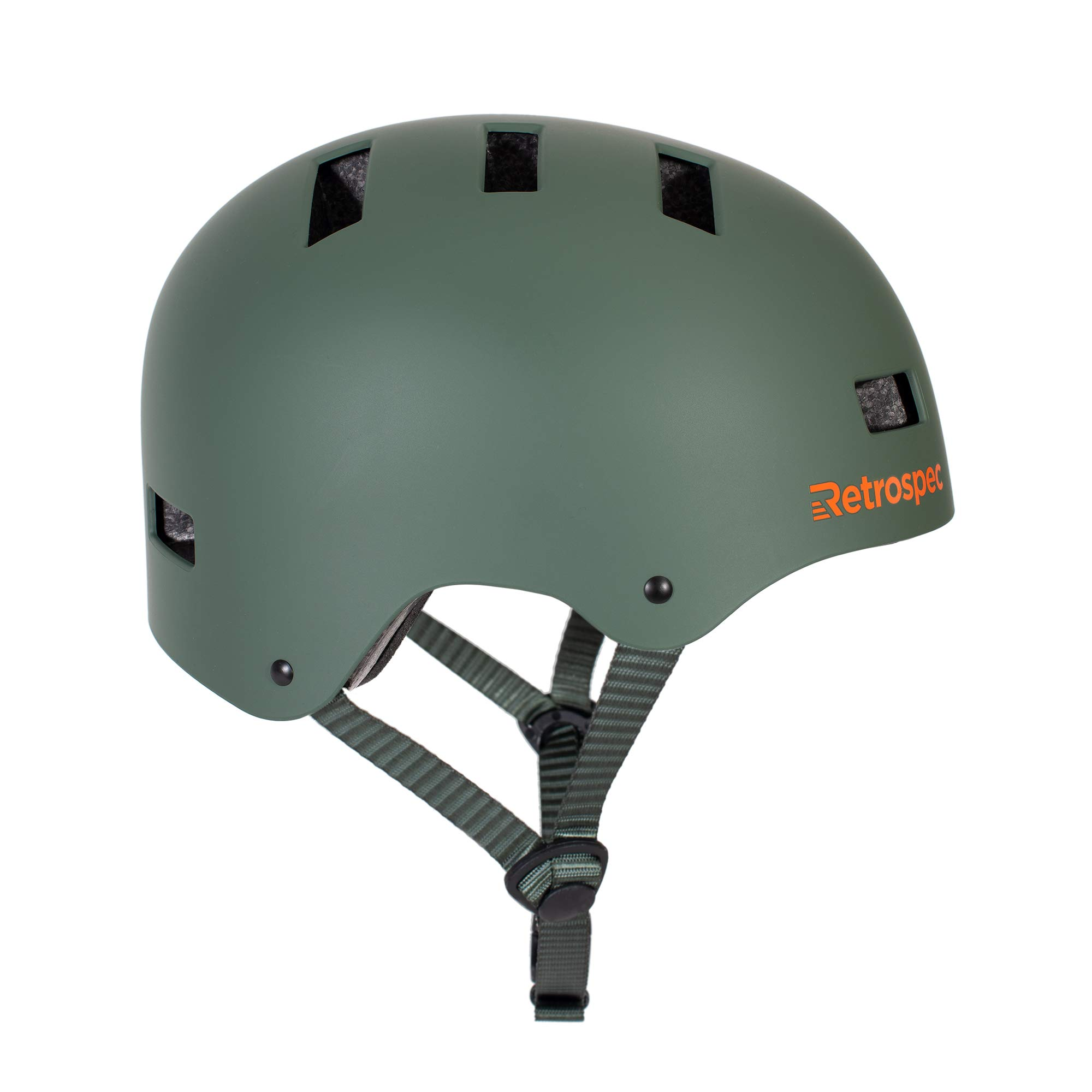 Retrospec CM-1 Bicycle / Skateboard Helmet for Adult CPSC Certified Commuter, Bike, Skate, Matte Forest Green, Small: 51-55 cm / 20''-21.75''