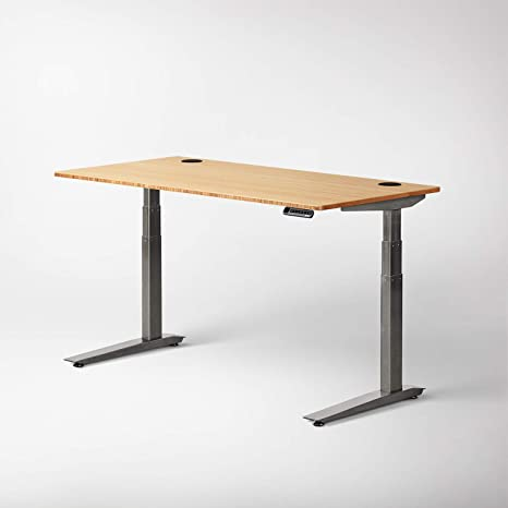 Sit Stand Desk >> Jarvis Standing Desk Bamboo Top Electric Adjustable Height Sit Stand Desk 3 Stage Extended Range Frame With Memory Preset Handset Controller By
