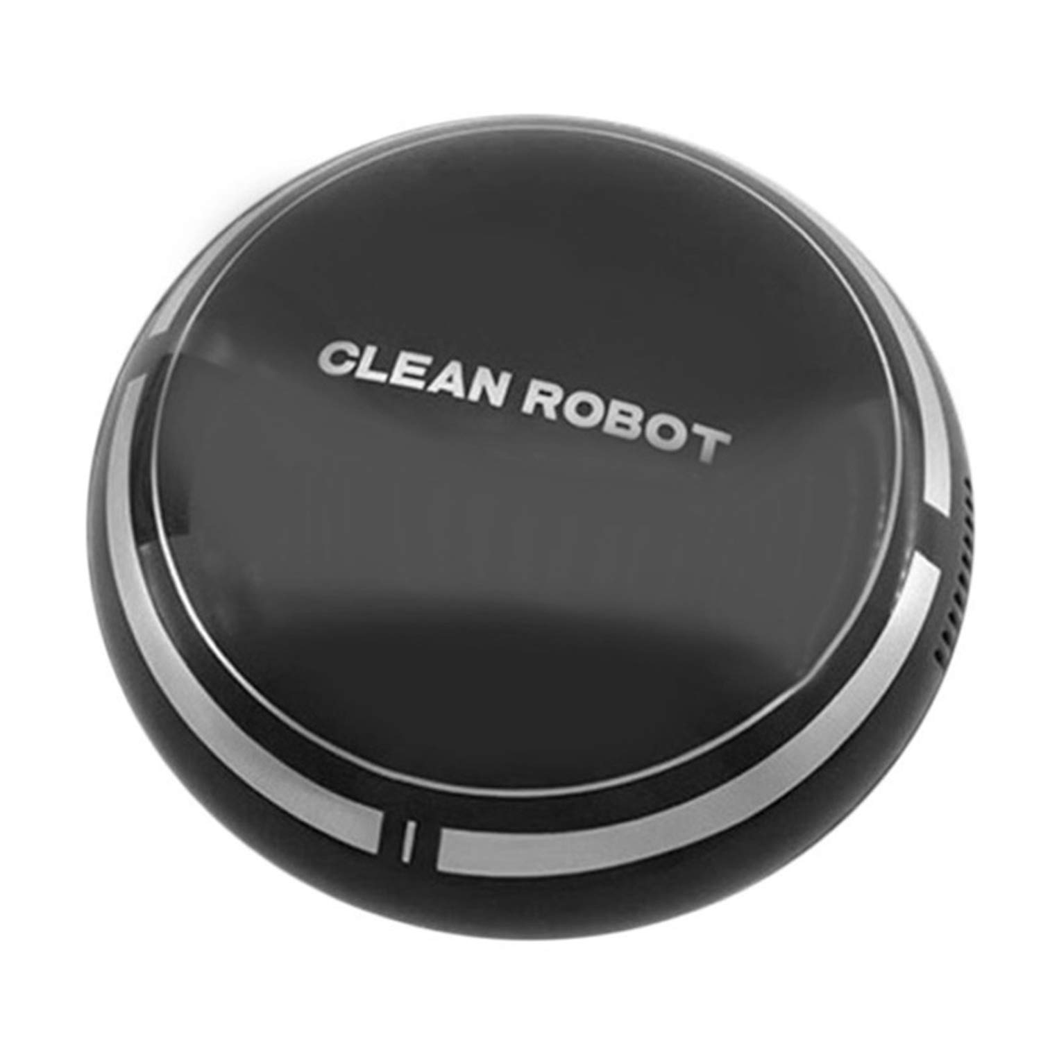 Gosear Automatic Floor Cleaner Robot, Automatic Sweeper Vacuum Rechargeable Smart Electronic Automatic Sweeping Robot Vacuum Sweeper Cleaner for Home Floor Cleaning Black
