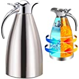Panesor Thermal Coffee Carafe Insulated 68 Oz/2L, Vacuum Stainless Steel Tea Carafe Hot Coffee Pitcher Double Walled