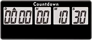 Jayron Retirement Timer 9,999 Days Digital Countdown Clock Loud Alarms,Magnet Adsorption Stopwatch Timer Battery Operated Replaceable,for Event Reminder Pregnancy Wedding Kitchen(Black)