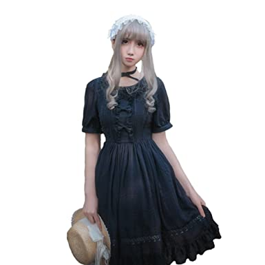 4983e45583a Amazon.com  Smiling Angel Girls White Sweet Lolita Dress Princess Court  Skirts Cosplay Costumes  Clothing