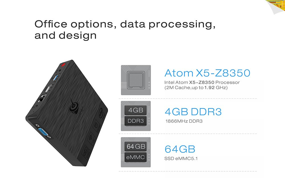 Mini PC Beelink BT3 Pro eMMC 64GB RAM 4GB