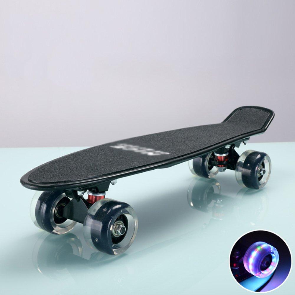 CZZ Bxh Piccolo Pesce Piatto a Quattro Ruote di Skateboard per Principianti Adulti e Adolescenti Scooter,D,Skateboard